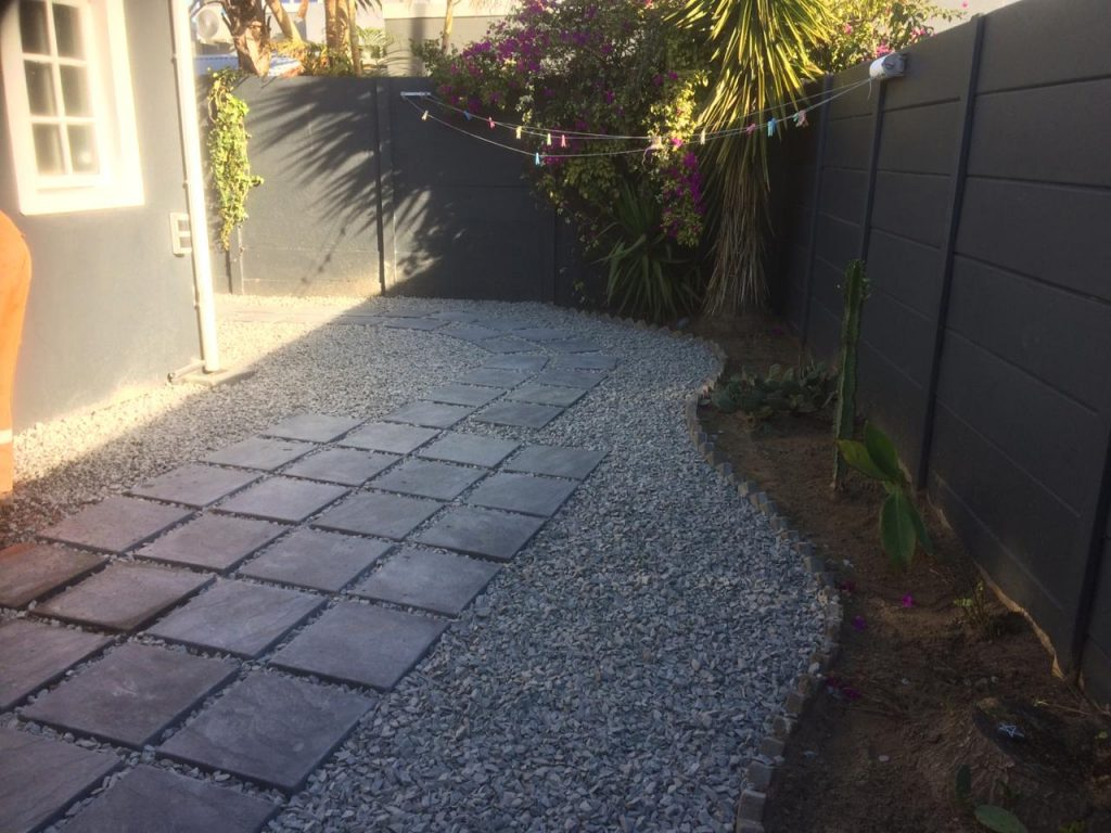 Garden design, paving, patio